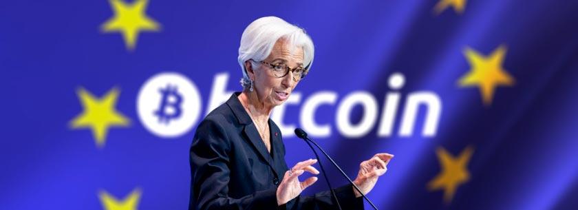 Глава Европейского Центрального Банка считает Биткоин «спекулятивным активом»