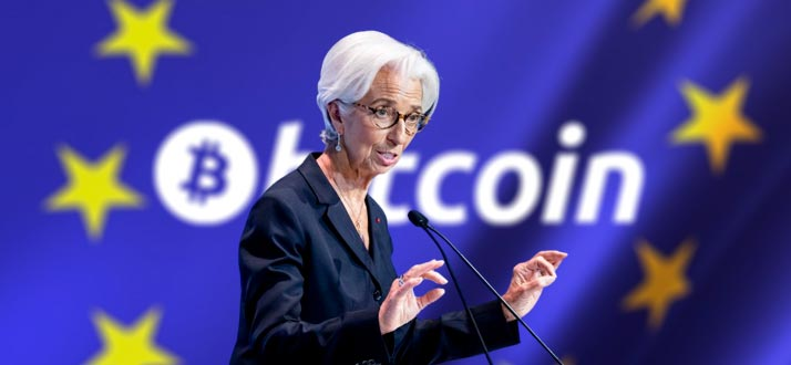 """The head of the European Central Bank considers Bitcoin a """"speculative asset"""""""